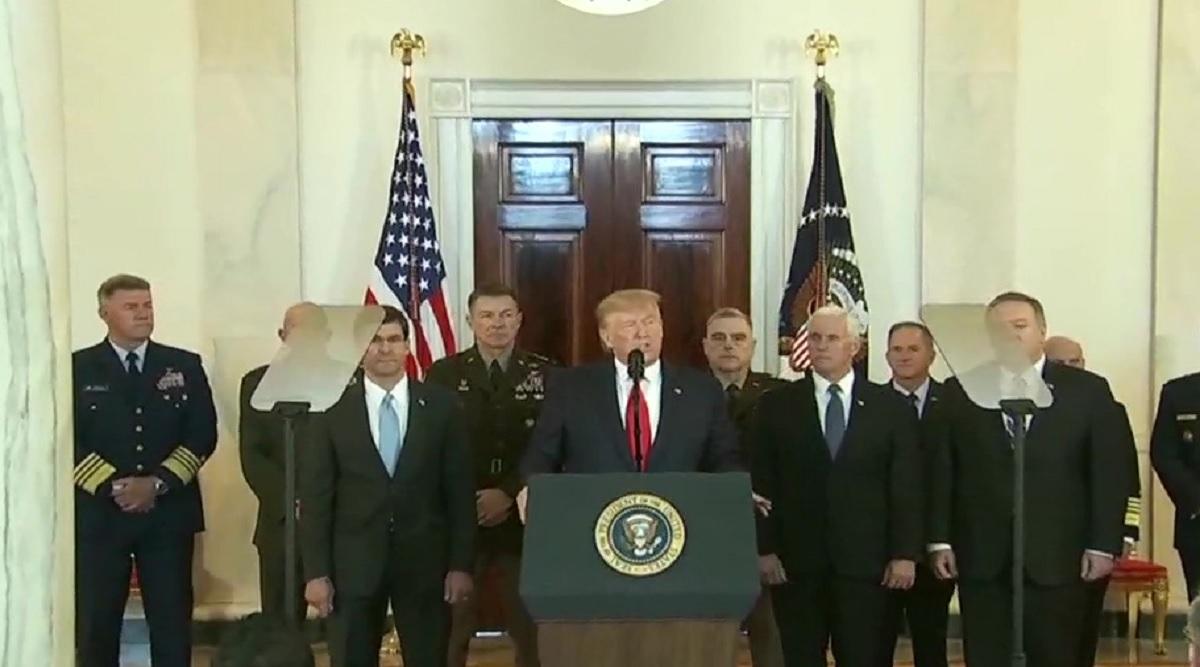 अमेरिका-ईरान तनाव: डोनाल्ड ट्रंप बोले-जब तक मैं राष्ट्रपति हूं, ईरान को परमाणु हथियार रखने की अनुमति कभी नहीं मिलेगी; हमले में किसी की नहीं गई जान