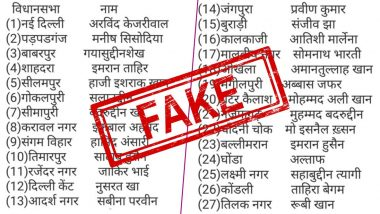 Fact Check: क्या आम आदमी पार्टी की पहली सूची में दिल्ली विधानसभा चुनाव 2020 के लिए 21 मुस्लिम उम्मीदवार हैंशामिल? यहां जानेंवायरल ट्वीट की सच्चाई