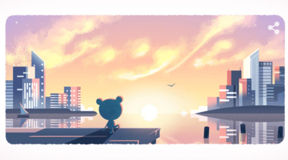 नए साल का पहला दिन: Google ने ख़ास एनिमेटेड Doodle बनाकर दी नए साल के पहले दिन की बधाई