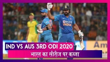 Ind vs Aus 3rd ODI 2020: भारत ने 2-1 से सीरीज पर जमाया कब्जा