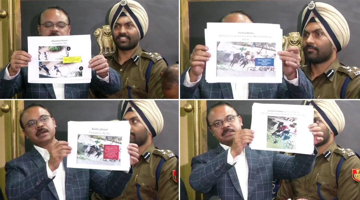 JNU हिंसा: दिल्ली पुलिस ने कहा-वीडियो के आधार पर हुईनकाबपोश हमलावरों की पहचान, क्राइम ब्रांच ने जारी की तस्वीरें