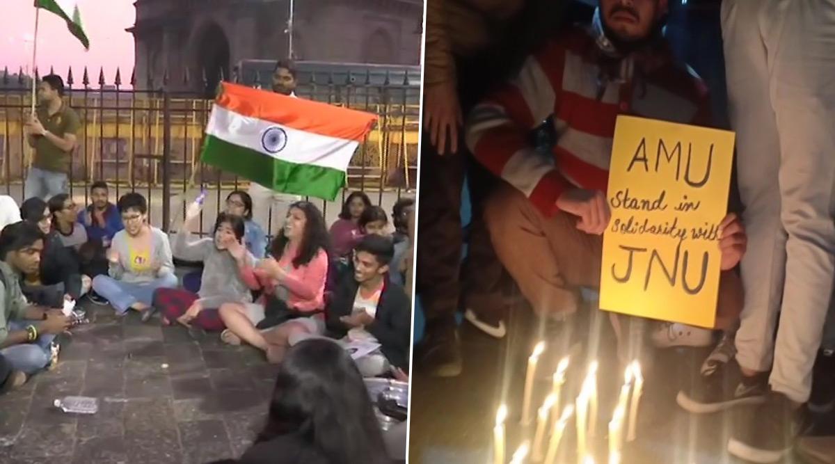JNU Violence: मुंबई से लेकर AMU तक देश के अलग-अलग हिस्सों में हिंसा के खिलाफ विरोध प्रदर्शन, कांग्रेस केंद्र पर हमलावर