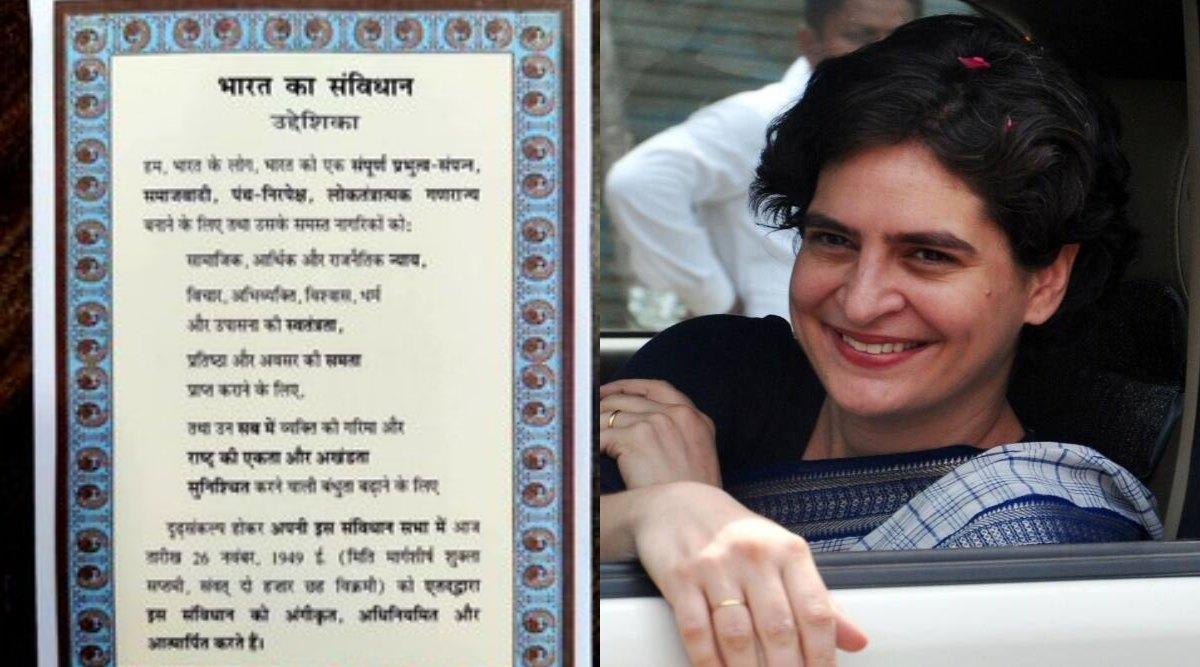 प्रियंका गांधी ने दी पार्टी के नेताओं और कार्यकर्ताओं को नए साल की शुभकामनाएं, भेजा संविधान की प्रस्तावना वाला ग्रीटिंग कार्ड