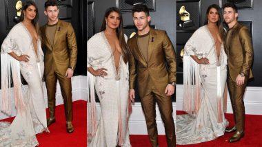 Grammy Awards 2020: प्रियंका चोपड़ा ने पहना बेहद ही बोल्ड गाउन, पति निक जोनस के साथ रेड कारपेट पर आई नजर