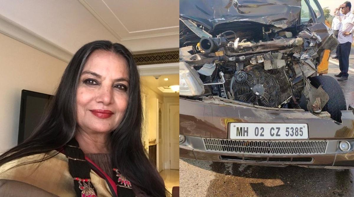 शबाना आजमी की कार का हुआ एक्सीडेंट, ड्राईवर के खिलाफ FIR दर्ज