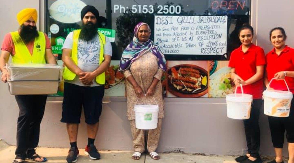 ऑस्ट्रेलिया: बुशफायर से प्रभावित हुए लोगों की मदद के लिए आगे आया सिख समुदाय, पीड़ितों तक खाना पहुंचा कर जीता सबका दिल