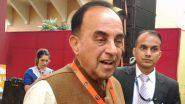 Air India Disinvestment: सुब्रमण्यम स्वामी ने एयर इंडिया बेचे जाने का किया विरोध, कहा-राष्ट्र विरोधी फैसला, जाऊंगा अदालत