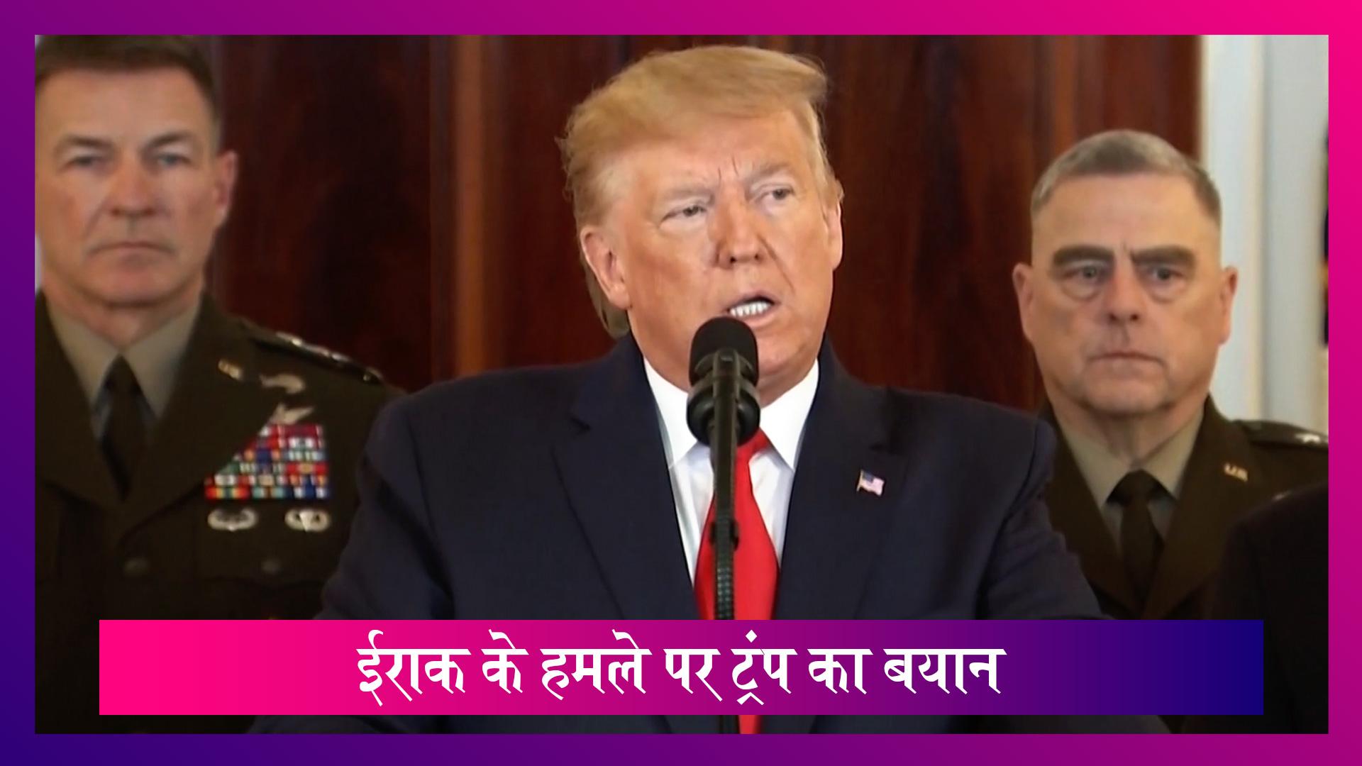 Donald Trump ने कहा Iran के मिसाइल अटैक में अमेरिकी सैनिकों को नहीं पहुंचा कोई नुकसान