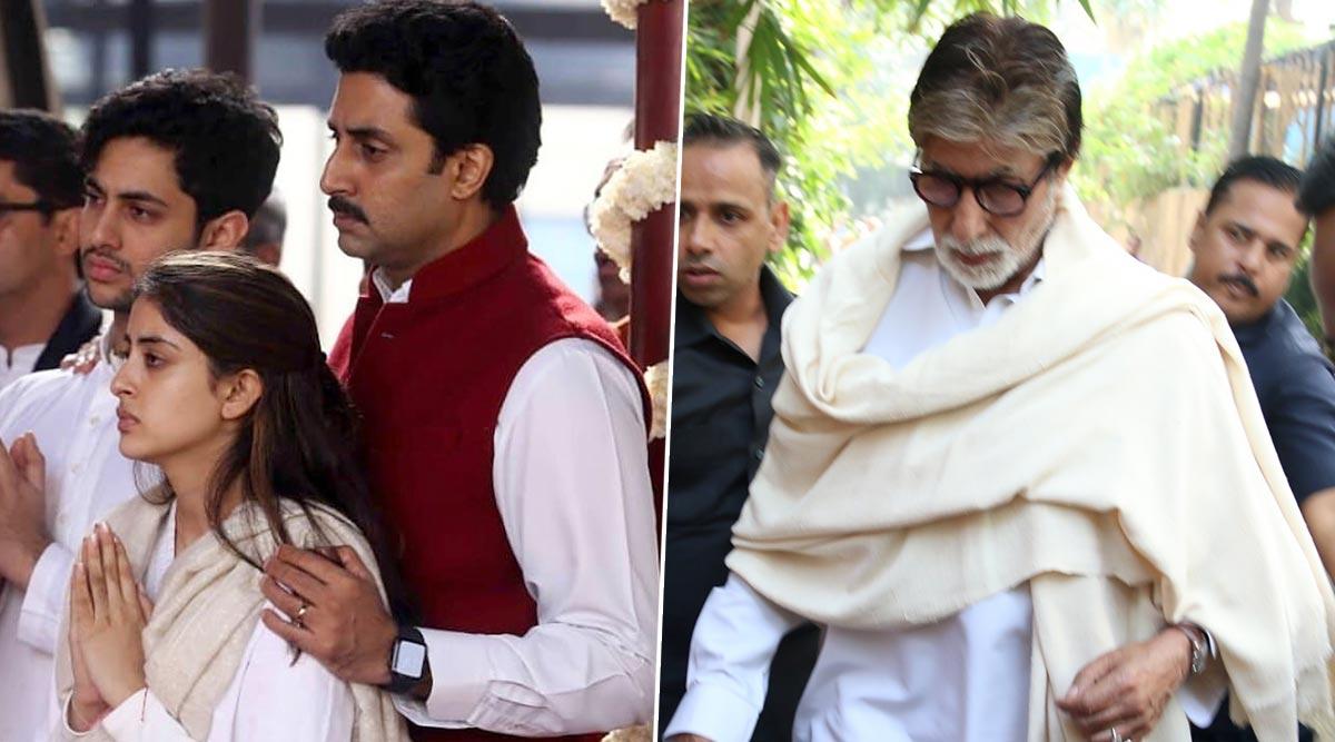 अमिताभ बच्चन, अभिषेक बच्चन, नव्या नवेली नंदा ने हरिद्वार में विसर्जित की ऋतू नंदा की अस्थियां, देखें Photos