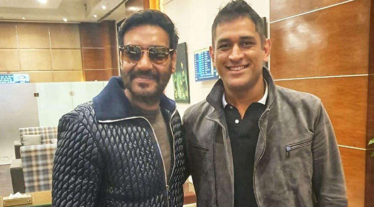 पूर्व कप्तान महेंद्र सिंह धोनीसे मिले अजय देवगन, एक्टर ने सोशल मीडिया पर शेयर की ये फोटो