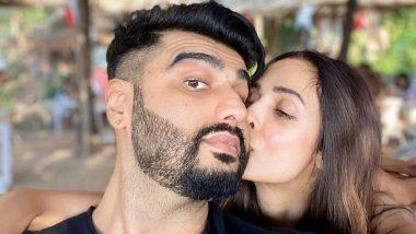 मलाइका अरोड़ा और अर्जुन कपूर ने रोमांटिक अंदाज में किया नए साल का स्वागत, किस करते हुए सेल्फी की शेयर