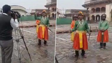पाकिस्तानी जर्नलिस्ट अमीन हाफीज ने शहंशाह के अवतार में की रिपोर्टिंग, लोगों को याद आई चांद नवाब की, देखें वीडियो