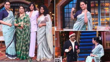 कंगना रनौत ने टीम 'पंगा' के साथ कपिल शर्मा के कॉमेडी शो में मचाया धमाल, देखें Photos
