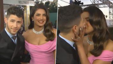 Golden Globes 2020: रेड कारपेट पर प्रियंका चोपड़ा और निक जोनस का दिखा आशिकाना अंदाज, एक-दूसरे को किस करते आए नजर