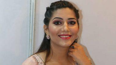 पीच कलर का लहंगा पहनकर Sapna Choudhary ने इंटरनेट पर लगाई आग, ट्रेडिशनल लुक कर रहा है घायल