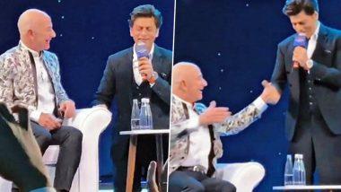 Amazonके मालिक जेफ बेजोस को शाहरुख खान ने सिखाया 'डॉन' का ये सुपरहिट डायलॉग, Video हुआ Viral