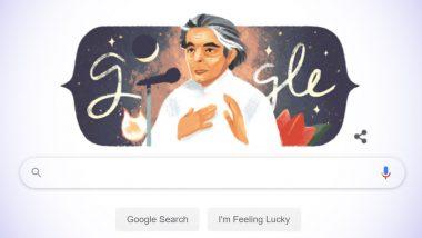कैफी आजमी की 101वीं जयंती: Google ने खास Doodle बनाकर मशहूर कवि और गीतकार को किया याद