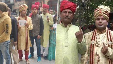 Delhi Assembly Elections: शादी से पहले बारात लेकर वोट डालने पहुंचा दूल्हा, देखें वायरल वीडियो