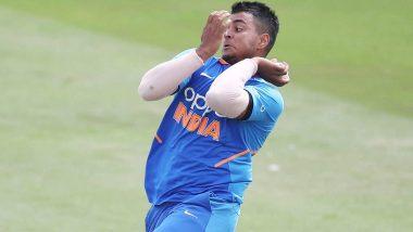 IND vs PAK U19 World Cup 2020: सुशांत मिश्रा की खतरनाक गेंद पर घायल हुए पाकिस्तानी सलामी बल्लेबाज हैदर अली, बीच मैदान में लगे कराहने