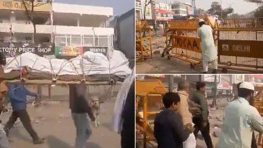शाहीन बाग के प्रदर्शनकारियों ने पेश की इंसानियत की मिसाल, हिंदू शव यात्रा के लिए खोला पुलिस बैरिकेट, देंखे वीडियो