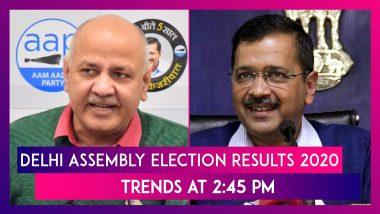 Delhi Assembly Polls 2020 Trends At 2:45 PM: Kejriwal ने पत्नी संग मनाया जश्न, Manish Sisodia जीते