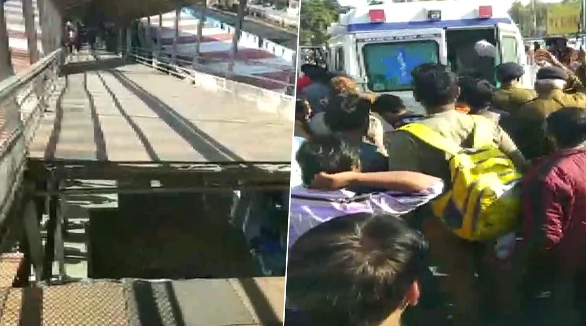 मध्यप्रदेश: भोपाल रेलवे स्टेशन पर बड़ा हादसा, फुटओवर ब्रिज का हिस्सा गिरा, 6 यात्री घायल