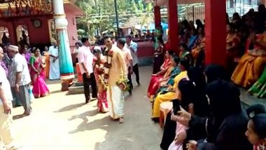केरल: मुस्लिम परिवार ने पेश की इंसानियत की मिसाल, हिन्दू परिवार द्वारा गोद ली गई बेटी की  मंदिर में करवाई शादी