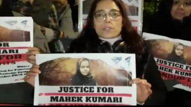 पाकिस्तान में नाबालिग हिंदू लड़की के धर्मांतरण का विरोध जारी, लंदन में PAK हाईकमीशन के बाहर प्रदर्शन