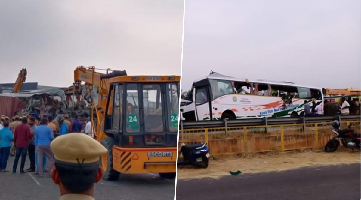 तमिलनाडु में बस और ट्रक के बीच भीषण टक्कर, 20 लोगों की मौत, कई घायल