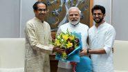 सीएम उद्धव ठाकरे ने पीएम मोदी से की मुलाकात,  बेटे आदित्य ठाकरे भी साथ थे मौजूद