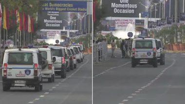 डोनाल्ड ट्रंप का भारत दौरा: सुरक्षा को लेकर अहमदाबाद एयरपोर्ट के बाहर मॉक ड्रिल