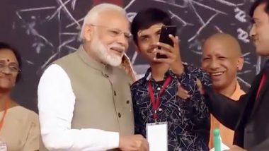 प्रयागराज: दृष्टिबाधित युवक को सरकार की तरफ से मिला स्मार्टफोन, पीएम मोदी के साथ ली सेल्फी, देंखे वीडियो