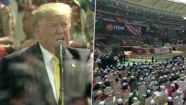 Namaste Trump: अहमदाबाद के मंच से पाकिस्तान पर भी बोले ट्रम्प, कहा- आतंकवाद पर एक्शन के लिए हमने बनाया दबाव