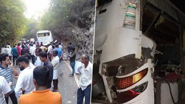 कर्नाटक: उडुपी में पहाड़ से टकराई टूरिस्ट बस,  9 की मौत, कई घायल