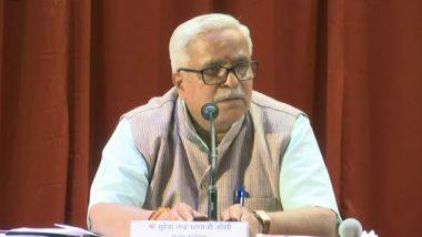 RSS के महासचिव भैयाजी जोशी बोले, BJP विरोध का मतलब हिंदू-विरोध नहीं, हिंदुओं को सियासी लड़ाई से न जोड़ा जाए