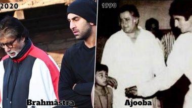 अमिताभ बच्चन सेमिलने शूटिंग सेट पर आते थे नन्हें रणबीर कपूर, आज 'ब्रह्मास्त्र' पर एक साथ कर रहे हैं काम, देखें Throwback Photo