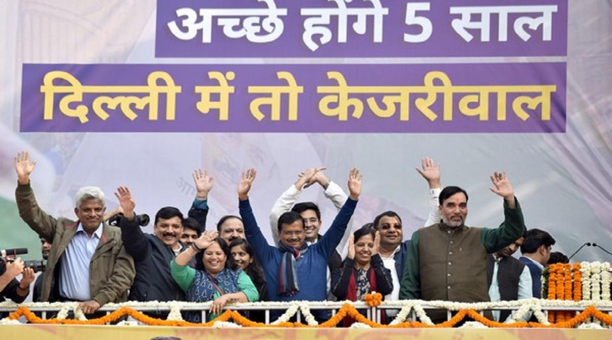 अरविंद केजरीवाल तीसरी बार बनने जा रहे हैं दिल्ली के मुख्यमंत्री, आज रामलीला मैदान में एक लाख लोगों की मौजूदगी में लेंगे शपथ