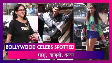 Sara Ali Khan, Janhvi Kapoor, Varun Dhawan स्पॉट हुए I Celebs Spotted