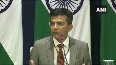 कोरोना वायरस: विदेश मंत्रालय के प्रवक्ता रवीश कुमार ने कहा-चीन में निर्यात होने वाले चिकित्सकीय उपकरणों पर कुछ प्रतिबंध लगाए गए हैं
