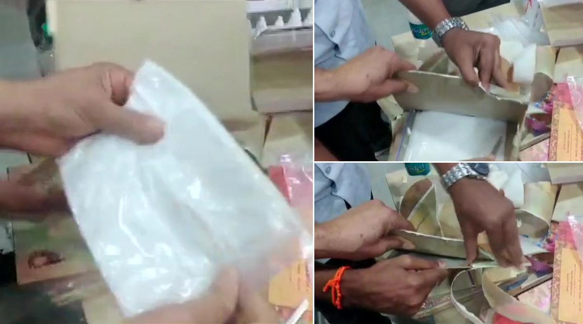 तस्करों का नायाब तरीका: शादी के कार्ड में छिपाकर 5 करोड़ की ड्रग्स भेज रहे थे ऑस्ट्रेलिया, बेंगलुरु एयरपोर्ट पर कस्टम ने पकड़ा; देखें वीडियो