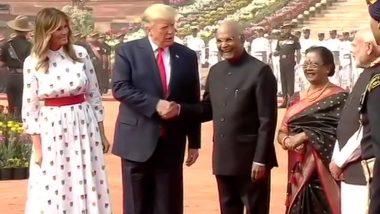 राष्ट्रपति भवन में अमेरिकी प्रेसिडेंट डोनाल्ड ट्रंप का शानदार स्वागत, गॉर्ड ऑफ ऑनर से किया गया सम्मानित