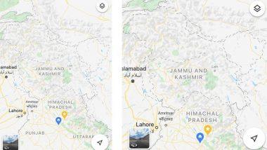 गूगल मैप्स में कश्मीर भारत के बाहर 'विवादित' क्षेत्र