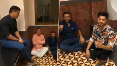 धोनी ने बाथरूम में उठाया किशोर कुमार के इस गाने का लुत्फ, पार्थिव-पीयूष भी थे साथ-VIDEO