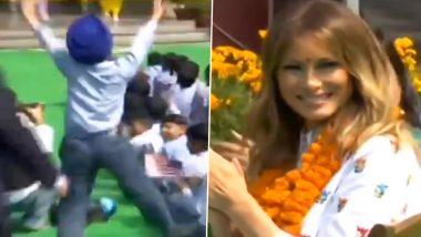 दिल्ली: बच्चों के बीच पहुंचीं अमेरिका की फर्स्ट लेडी, नन्हे सरदार के धमाकेदार भांगड़ा ने जीता मेलानिया ट्रंप का दिल, देखें VIDEO