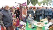 प्रधानमंत्री नरेंद्र मोदी अचानक राजपथ के 'हुनर हाट' पहुंचे, लिट्टी-चोखा खाया और कुल्हड़ चाय पी
