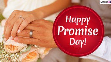 Promise Day 2020 Wishes: प्रॉमिस डे पर अपने प्यार से करें कोई खूबसूरत वादा, भेजें ये रोमाटिंक हिंदी WhatsApp Stickers, Facebook Greetings, Shayaris, Messages, Photo, SMS और वॉलपेपर्स