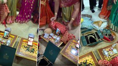 VIDEO: गुजराती परिवार ने वीडियो कॉल के जरिए कराया रोका, मोबाइल को ओढ़ाई चुनरी- निभाई सारी रस्में, आप भी देखें