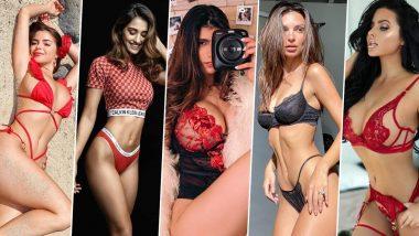 Valentine's Day Sexy Lingerie: वैलेंटाइन डे की शाम पार्टनर को करें मदहोश- पहनें दिशा पटानी, डेमी रोज, मिया खलीफा और अबीगैल रैचफोर्ड जैसी सेक्सी लिंगरी