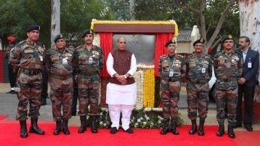 रक्षा मंत्री राजनाथ सिंह ने भारतीय सेना के नये मुख्यालय भवन का शिलान्यास किया