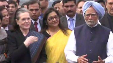 दिल्ली हिंसा: सोनिया गांधी-मनमोहन सिंह समेत कई नेताओं ने की राष्ट्रपति से मुलाकात, गृहमंत्री अमित शाह को हटाने की मांग